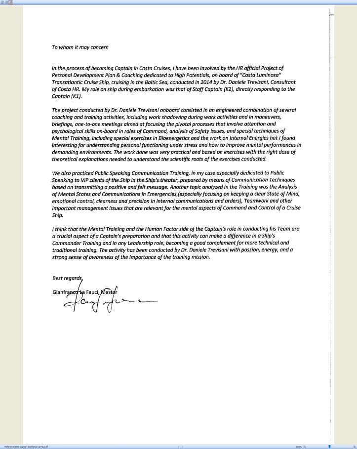 Reference letter Captain Gianfranco La Fauci Costa Cruises Carnival Corporation.jpg
